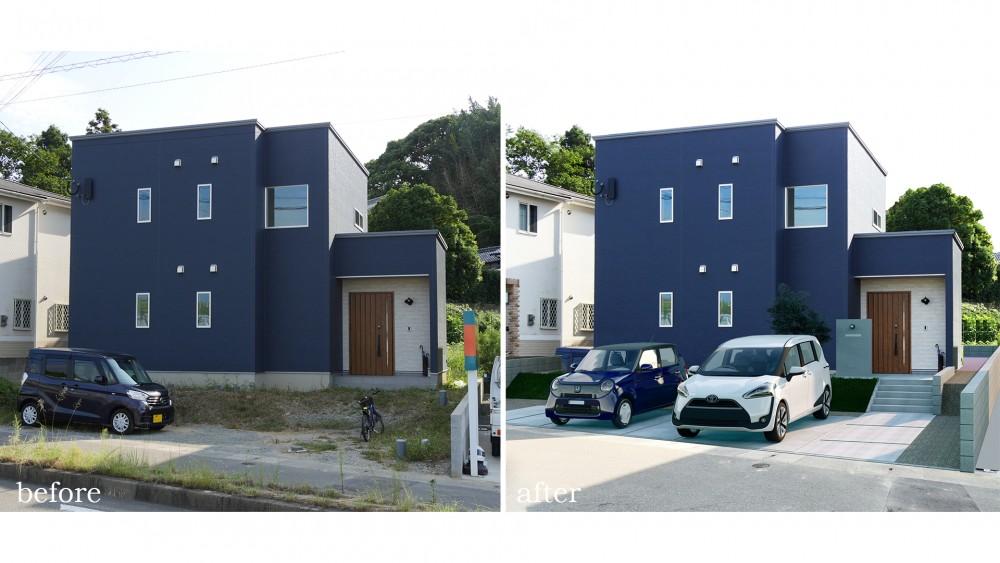 新築一戸建て外構(駐車場)イメージ
