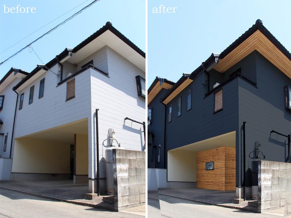 一戸建て外壁(色)変更イメージ