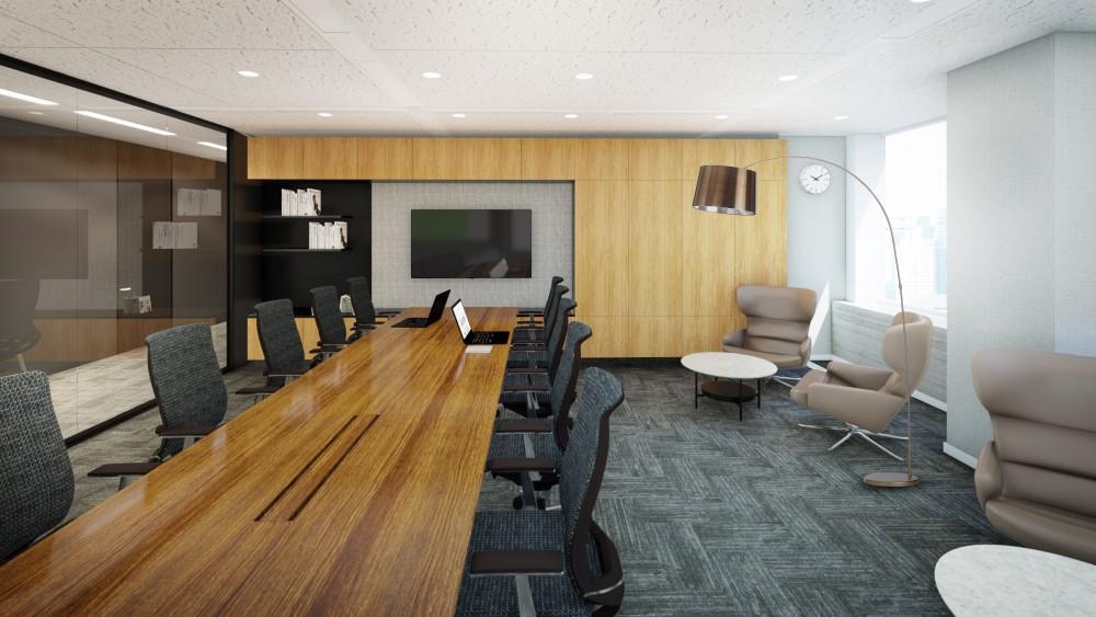 高層ビルオフィス会議室
